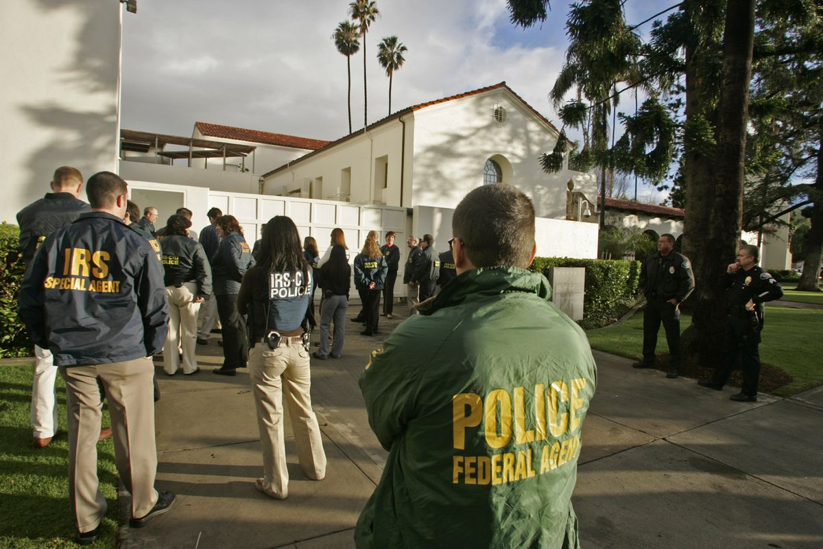A multi-agency, early morning raid of a museum in 2008.