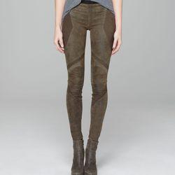 Patina stretch armor leather leggings, $345