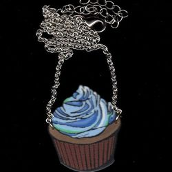 """""""The <a href=""""http://birdqueendesigns.com/artwork/2937405_Chocolate_Cuppy_Cake_Necklace.html"""">Chocolate Cuppy Cake Necklace</a> ($15) was inspired by Megon Dee, a friend who owns <a href=""""http://www.corazoncakery.com/"""">Corazon Cakery</a> in Baltimore."""""""