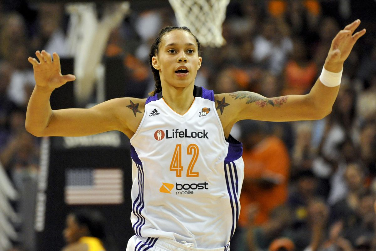 Brittney Griner chose to stick with No. 42 when she entered the WNBA