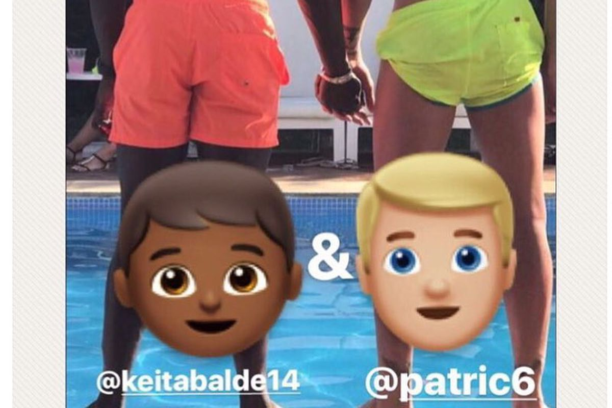 Romance or bromance? Pro soccer players Keita Balde, Patric post ...