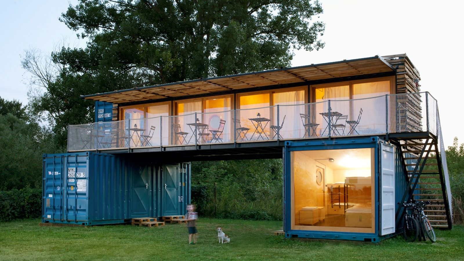 Shipping container hotel offers eco friendly getaway for - Container homes chicago ...