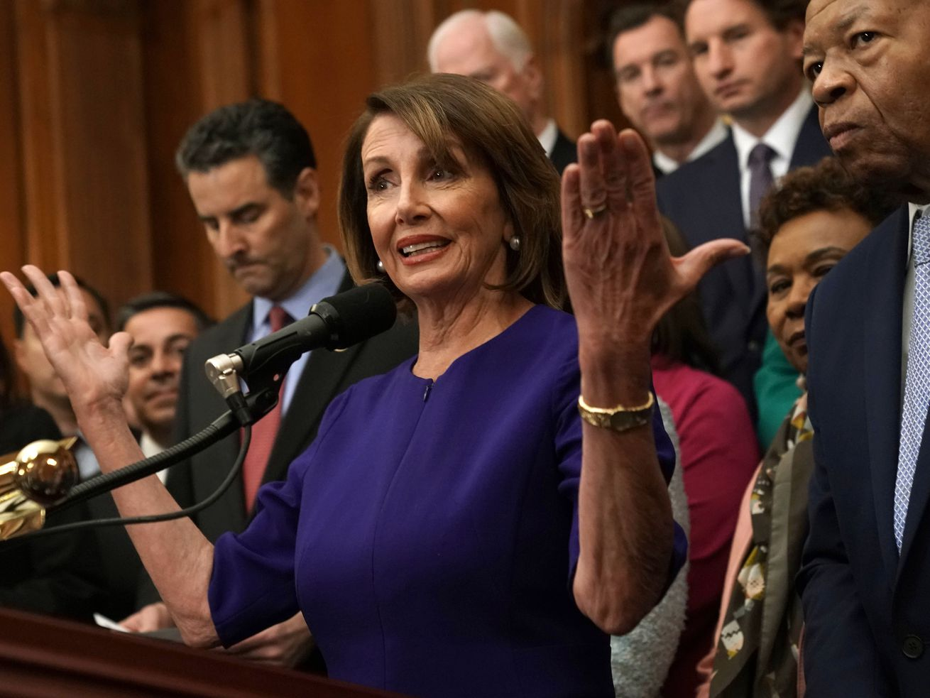 House Speaker Nancy Pelosi speaks at a news conference in Washington, DC, in January 2019.