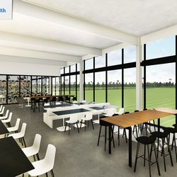 Players and staff members will be welcome to dine in the facility's kitchen