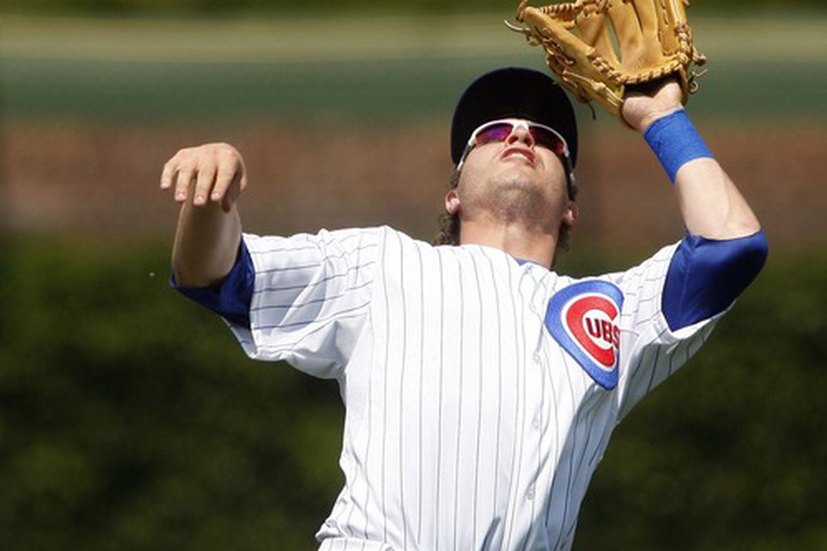 Chicago, IL, USA; Chicago Cubs infielder Adrian Cardenas fields a pop up against the Chicago White Sox at Wrigley Field. Credit: Jerry Lai-US PRESSWIRE