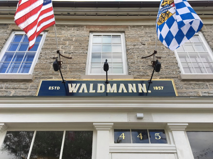 The old stone exterior of Waldmann