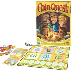 In the winner-take-all game of Coin Quest, you are part of a mysterious cabal of elite coin collectors. Outbid and outsmart your peers in an informal auction to acquire better coins. In this deck-building game, coins replace cards. The shrewdest collector will be the one who goes home with all the coins.