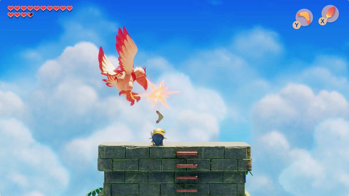Link's Awakening Eagle's Tower Evil Eagle boss fight
