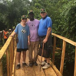 Myan Moon, a 14-year-old Boy Scout from Kaysville raised $1,000 for the bridge supplies for his Eagle project in conjunction with World Joy and he and his father, Nathan, joined our MRIoA group on the expedition. The bridge experience was amazing.