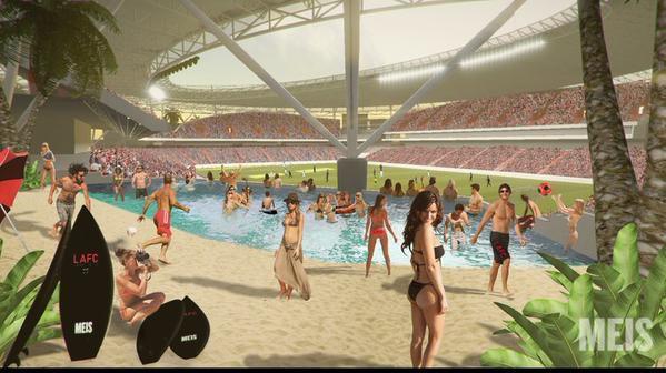LAFC stadium renderings Meis beach
