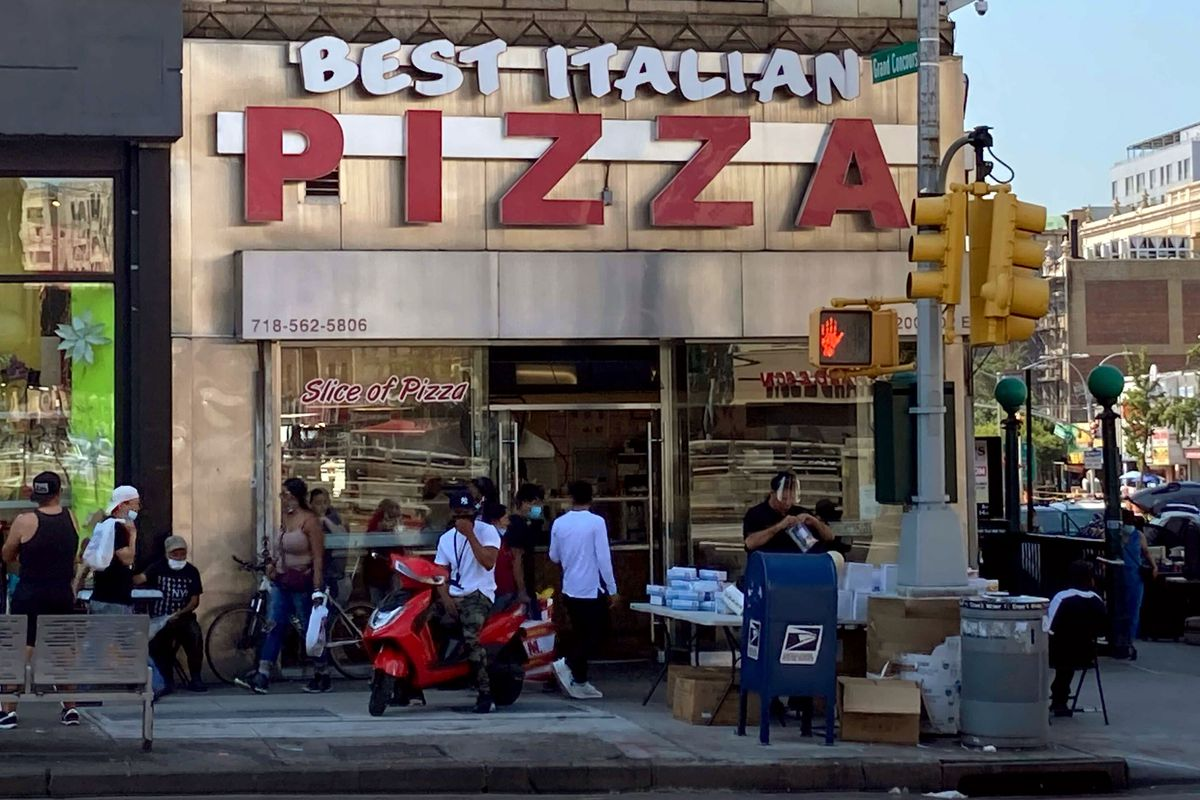 Best Italian Pizza at East Fordham Road and Grand Concourse in The Bronx on Aug. 24, 2021