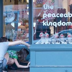 """Another adorable gift shop, <a href=""""http://theaapk.com/"""">The Peaceable Kingdom</a> [734-668-7886] carries folk art, toys, clocks, and other quirky odds and ends. But its claim to fame is a """"fairy door"""" at the foot of its entrance (that's what those shopp"""