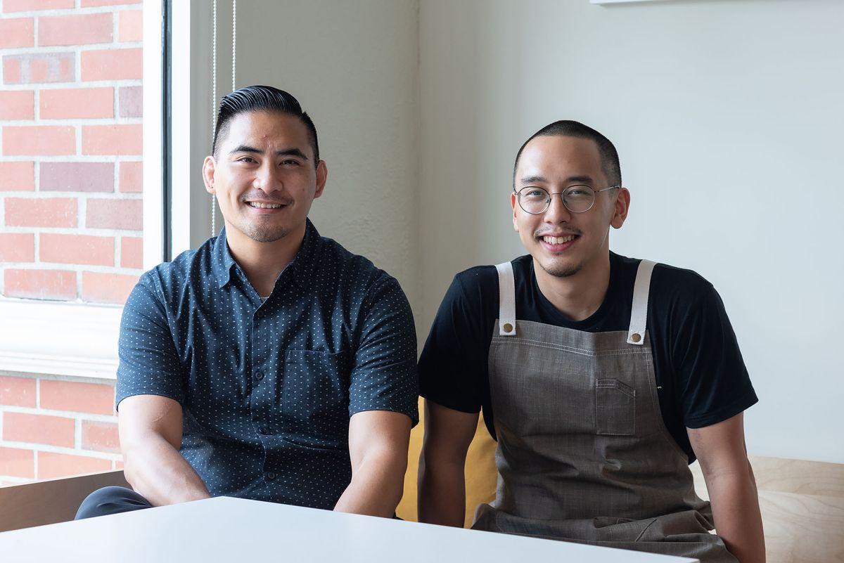 Portrait of chefs Joseph Marcos and Chris Yang.