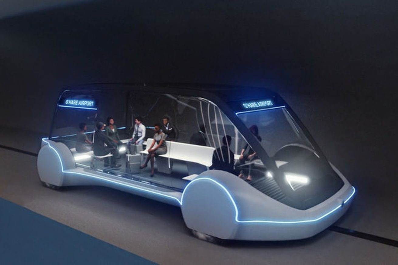 elon musk s boring company approved to build high speed transit between downtown chicago and o hare airport