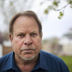 James Norman Sr. is pictured in the backyard of his house in Orem on Tuesday, April 11, 2017. Norman's son, James Norman Jr., is accused of strangling his roommate while he was a patient at the Utah State Hospital. Due to competency questions he has been waiting six years to stand trial.