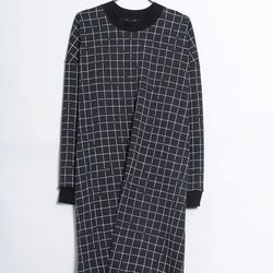 """Kowtow 'Anonymous' Sweater, <a href=""""http://www.internationalplayground.com/kowtow/kowtow-anonymous-sweater-black-or-dark-teal-with-grid.html"""">$109</a> at International Playground"""