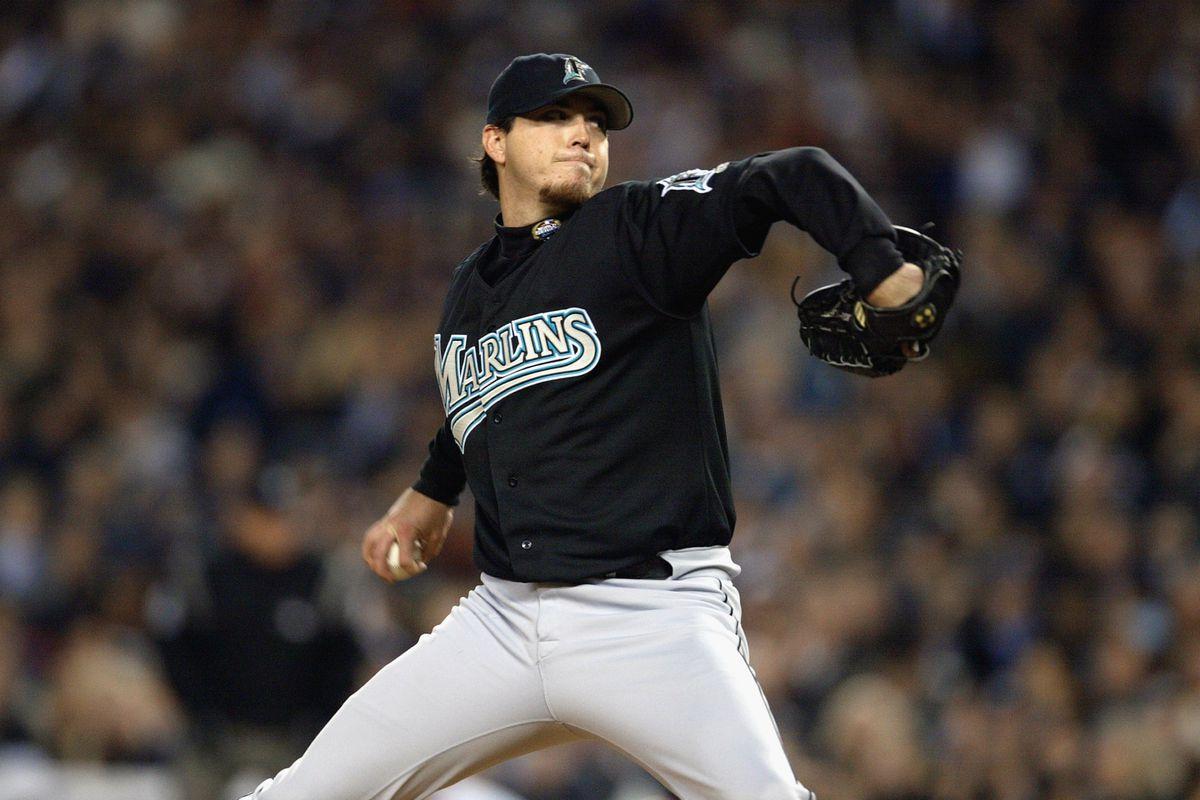 Josh Beckett pitches