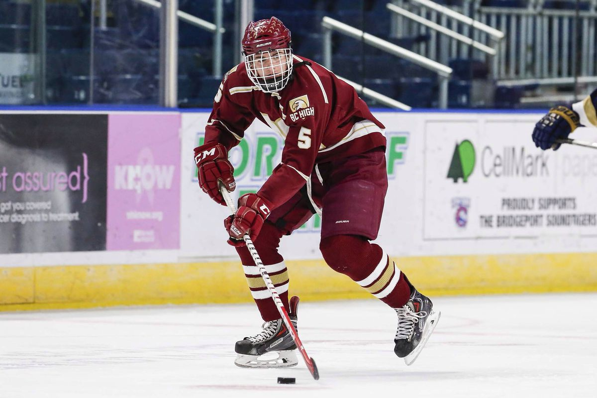 NHL Draft prospect Ryan Shea had Boston Bruins assistant GM Don Sweeney in the house Monday to watch the BC High junior defenseman.