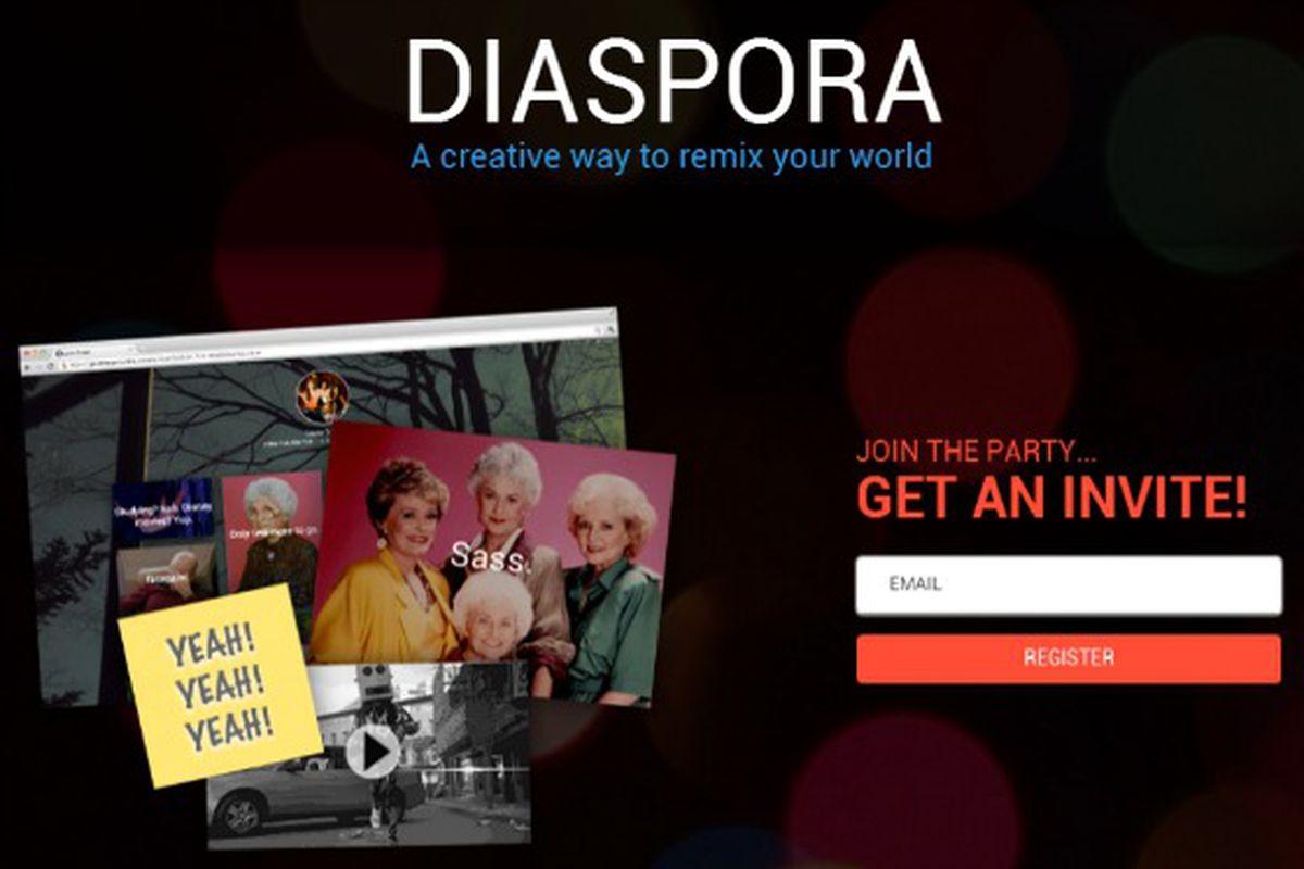 diaspora makr splash page