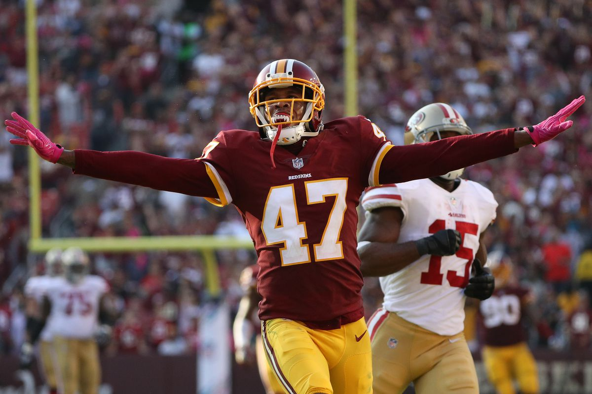 san francisco a562f 86894 Redskins sign CB Quinton Dunbar to 3-year extension, letting ...