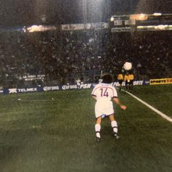 Brandon Smith captured this image of Ben Olsen with a disposable camera from the sidelines at Hersheypark Stadium