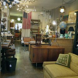 """Next, cross the street and head to <a href=""""http://www.brainworkshome.com"""">Brainworks Home</a> (5364 W. Pico Blvd), an expertly curated vintage and antiques shop by local interior decorator Erin Adams. Find everything from mid-century modern sideboards, V"""