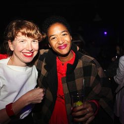 """Theresa Canning Zast and Khira Jordan from Racked NY Coolest Pop-Up Shop <a href=""""http://ny.racked.com/archives/2013/10/10/presenting_all_of_the_winners_for_the_2013_racked_awards.php"""">winner</a> Kate Spade Saturday"""