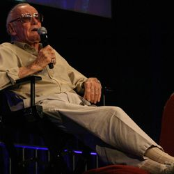 Marvel icon Stan Lee answers questions at a Q&A panel at Salt Lake Comic Con. With more than 50,000 tickets sold, Comic Con goers filled the convention halls to the max during the final day of the convention.