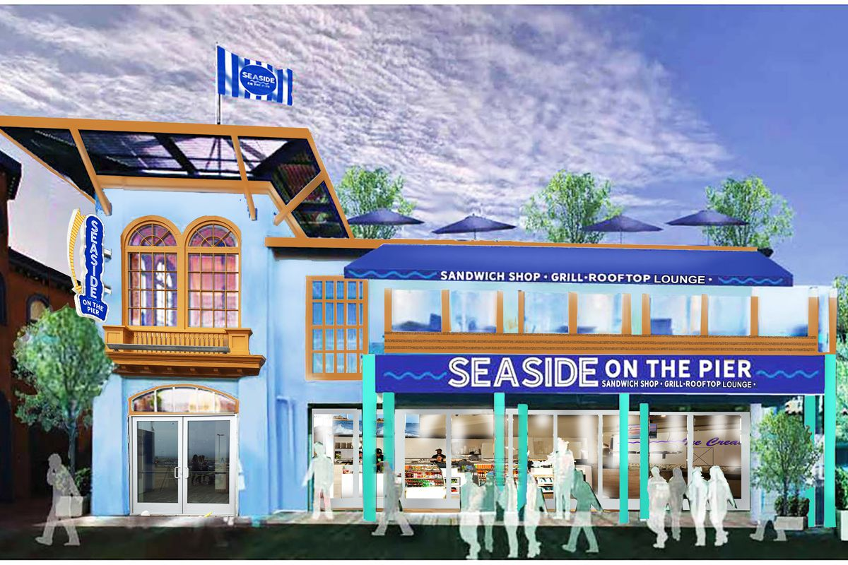 Seaside On The Pier Rendering