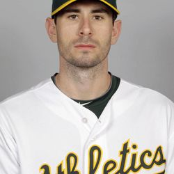FILE - This 2012 file photo shows Brandon McCarthy of the Oakland Athletics baseball team. Athletics pitcher Brandon McCarthy was in stable condition in the critical care unit of a Bay Area hospital on Thursday, Sept. 6, 2012, a day after having surgery for a skull fracture and brain contusion caused by a line drive. McCarthy was hit in the right side of the head Wednesday by a line drive off the bat of Erick Aybar of the Los Angeles Angels. He was knocked down by the shot and hit his head on the ground.