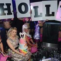 Holly Madison celebrates her birthday at Moon Nightclub. Photo: Denise Truscello/WireImage
