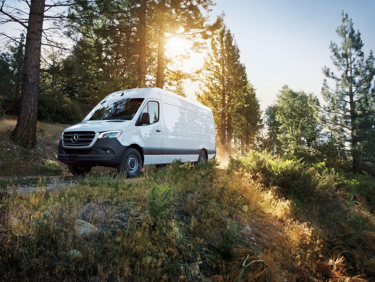 The new 2019 Mercedes-Benz Sprinter van.