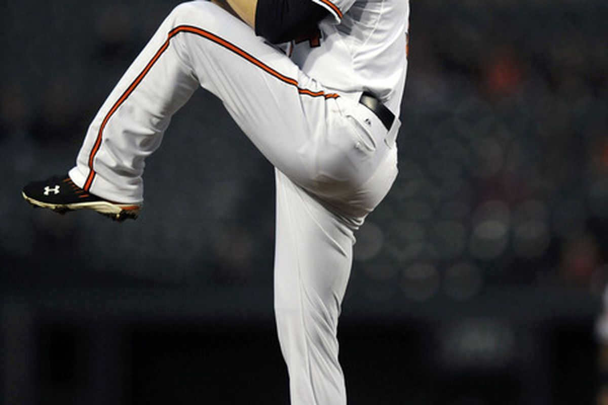 Can Jake Arrieta fire off a quality start this afternoon to help the Orioles continue their winning ways against the Red Sox? Mandatory Credit: Joy R. Absalon-US PRESSWIRE