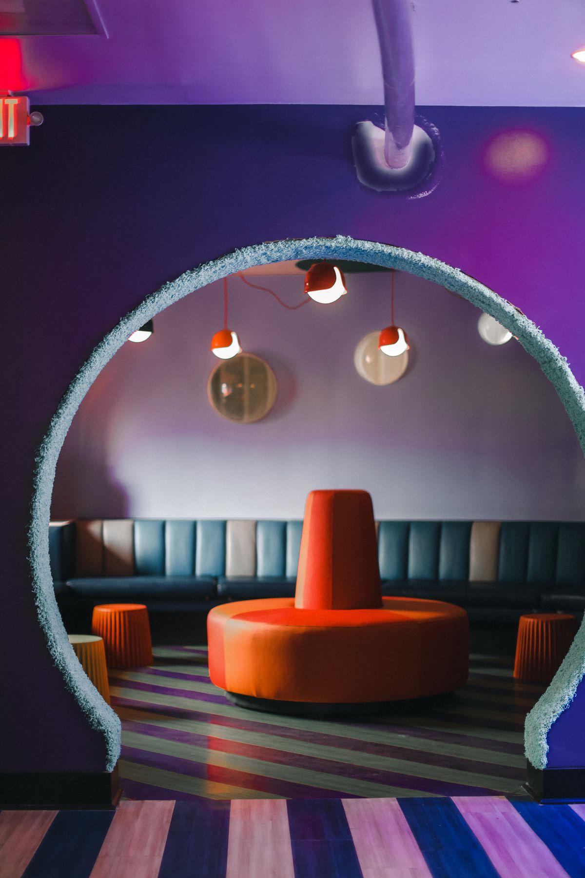 The bubble room at Wonder Bar