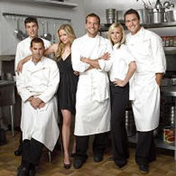 """John Francis Daley, Nicholas Brendon, Jaime King, Bradley Cooper, Bonnie Somerville and Owain Yeoman star in """"Kitchen Confidential,"""" which airs Mondays at 7:30 p.m. on Fox."""