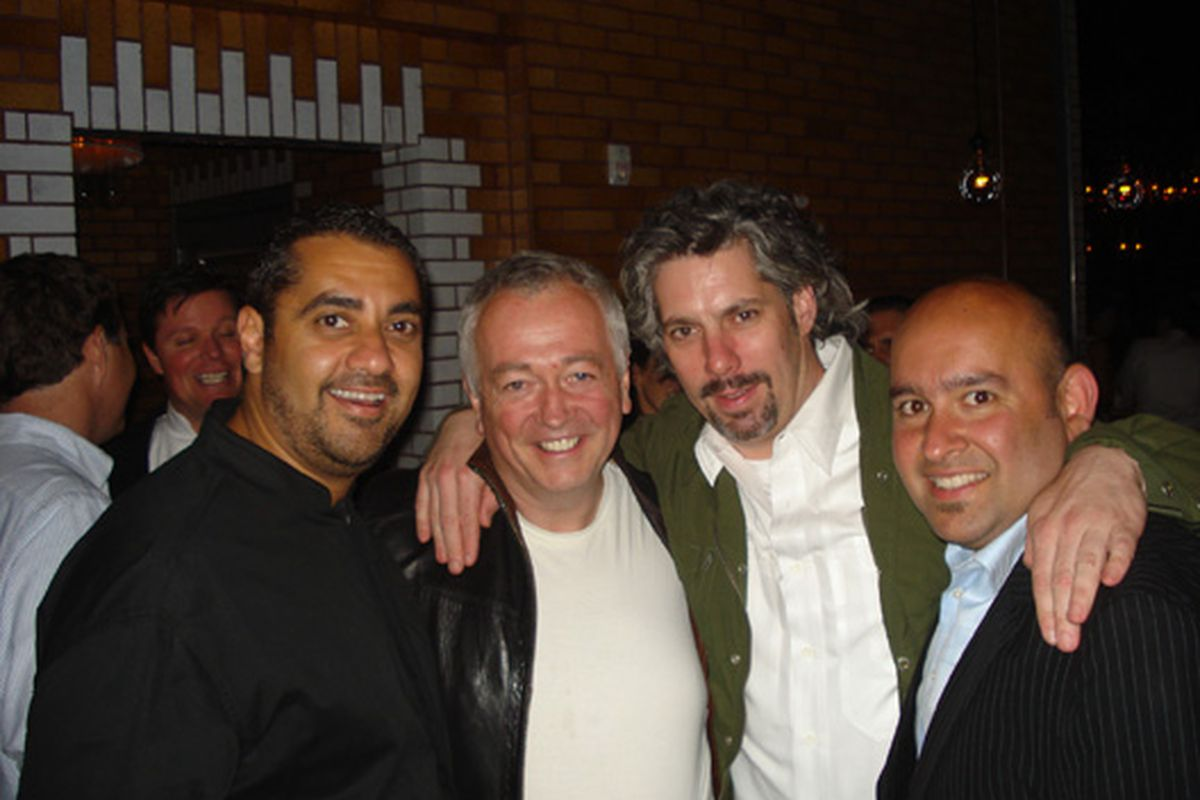 Seduce the camera: Michael Mina, Roland Passot, Richard Reddington and Raj Parr at RN74