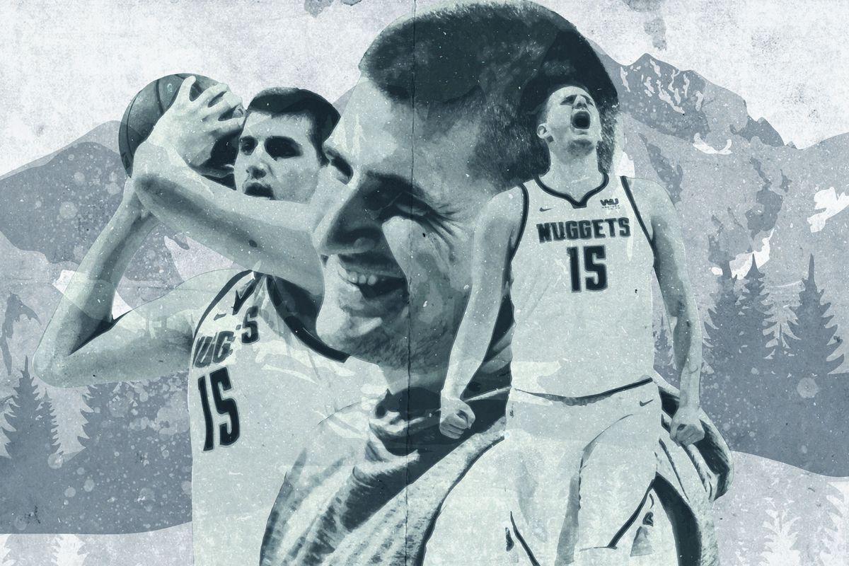 A photo collage of Nikola Jokic