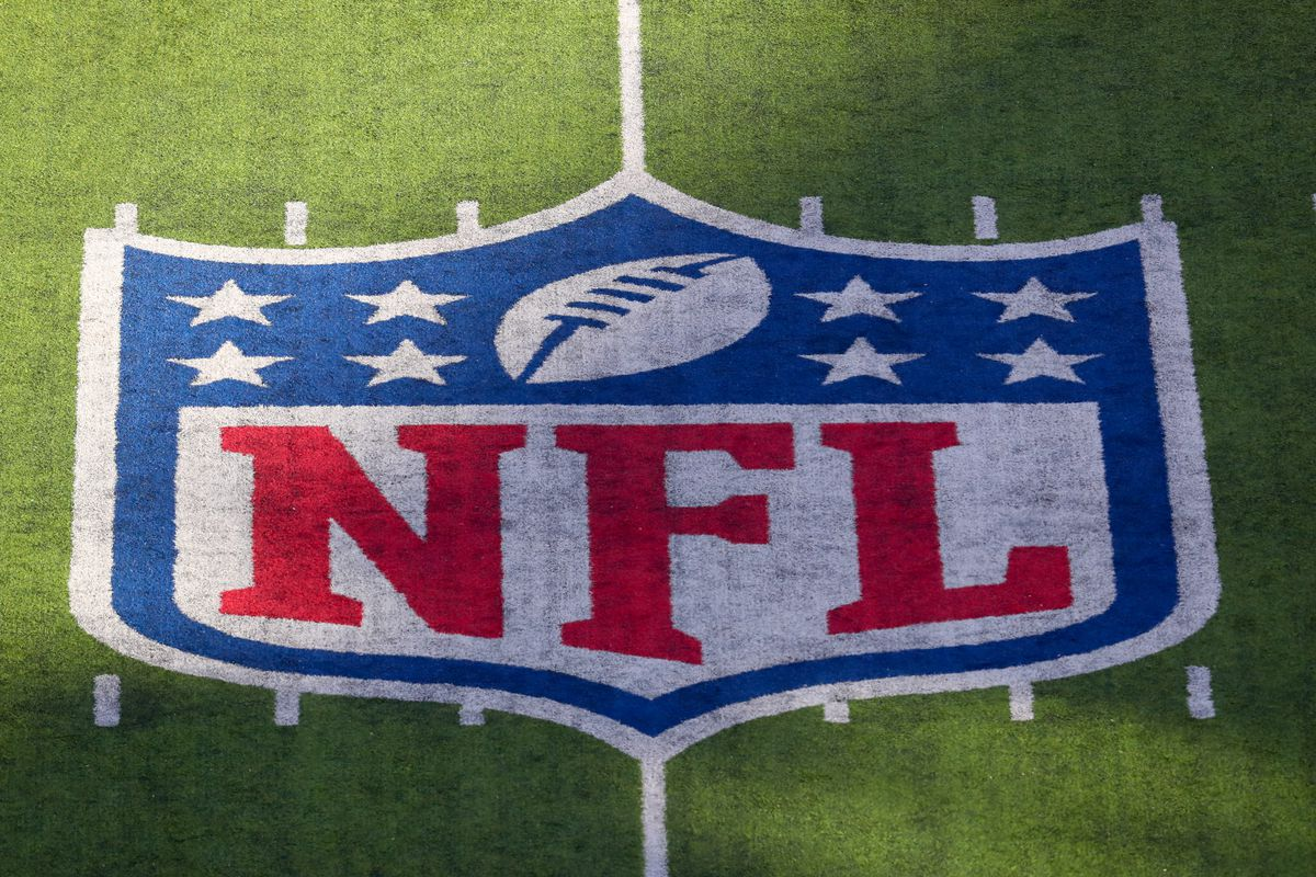 A general view of the NFL Shield on the field prior to the National Football League game between the New York Jets and the Pittsburgh Steelers on December 22, 2019 at MetLife Stadium in East Rutherford, NJ.