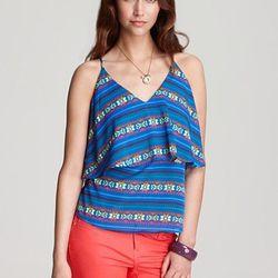 """<a href="""" http://www1.bloomingdales.com/shop/product/aqua-cami-neon-tribal-tiered?ID=616357&PseudoCat=se-xx-xx-xx.esn_results""""> Aqua neon tribal cami</a>, $78 bloomingdales.com"""