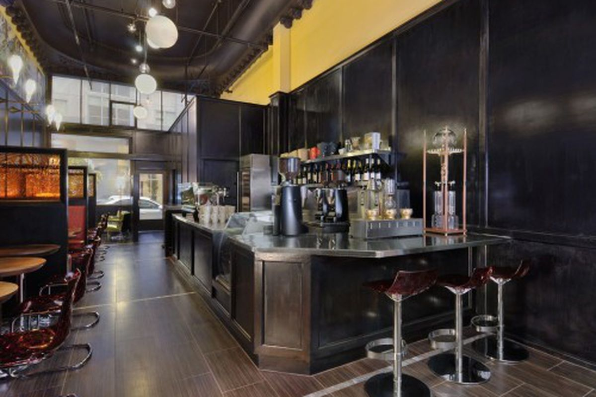 Adeeni Design describes the colors here as espresso, red gold and chartreuse, see the Siphon bar on the right<br />