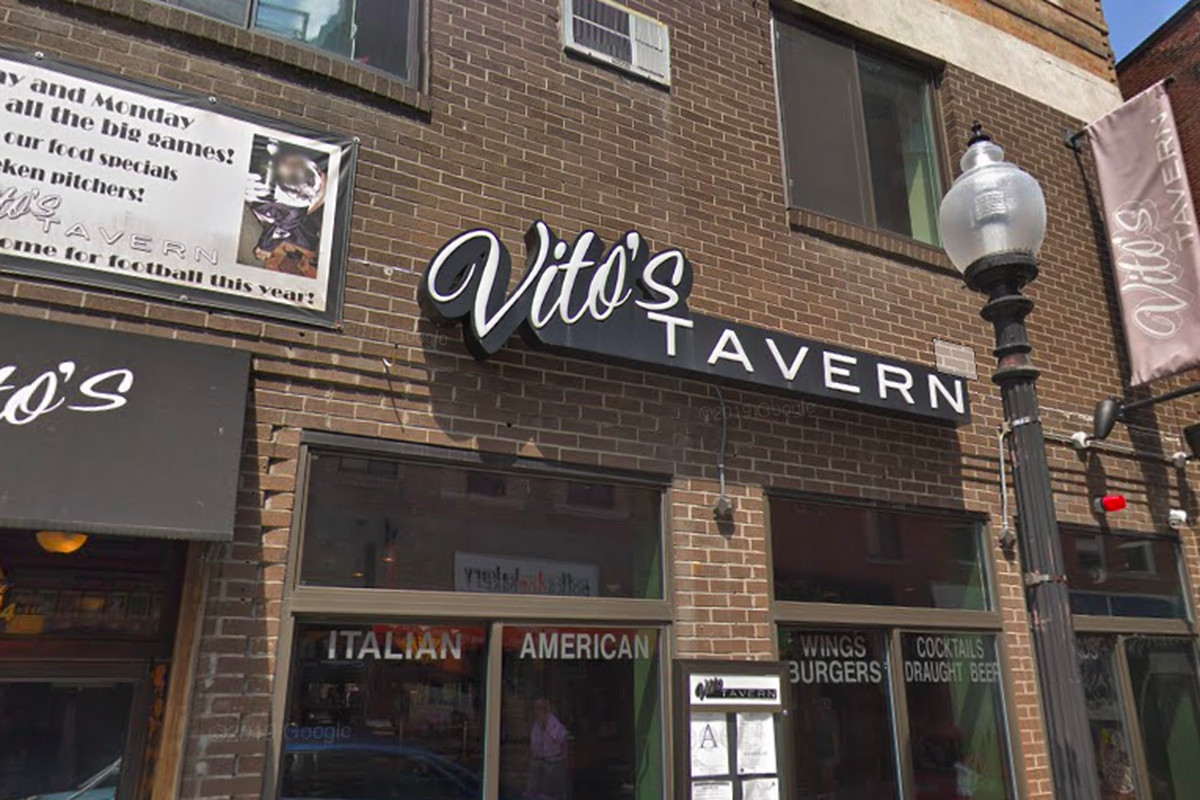 The facade of Vito's in the North End. The space is now occupied by Domenic's.