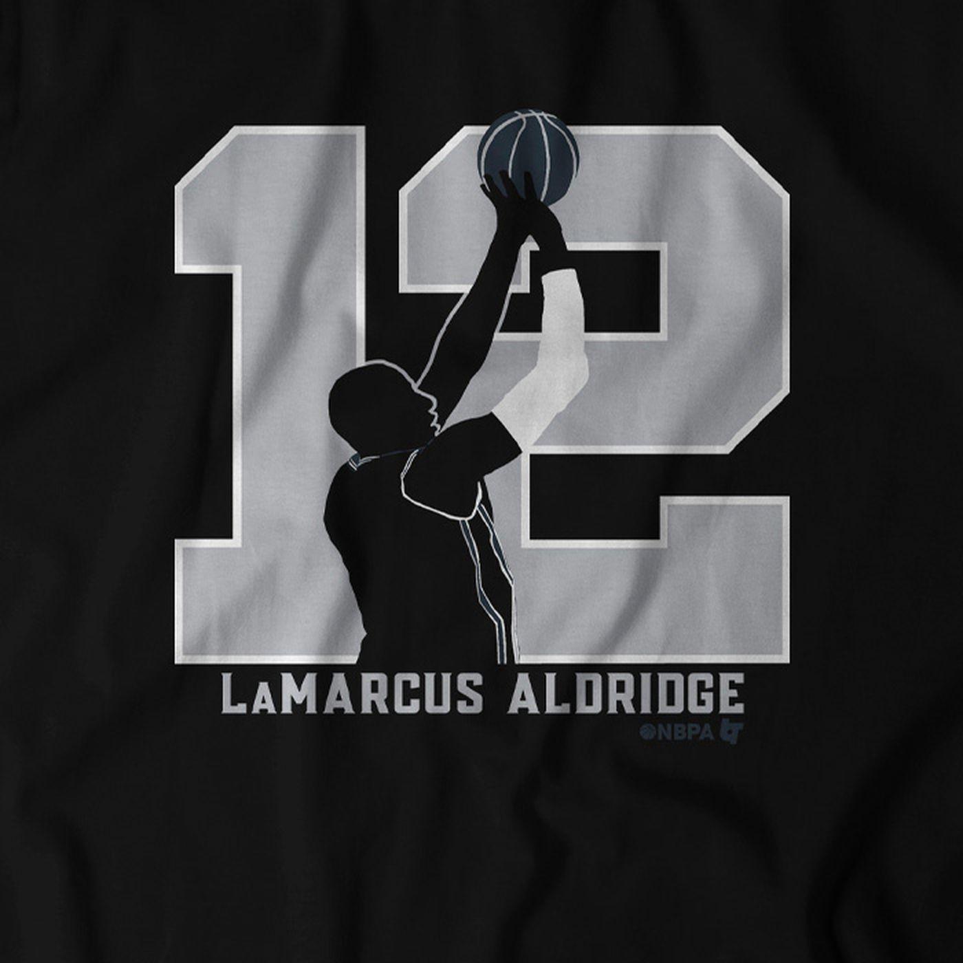 newest 9b6e0 bb84b Releasing the LaMarcus Aldridge T-shirt - Pounding The Rock