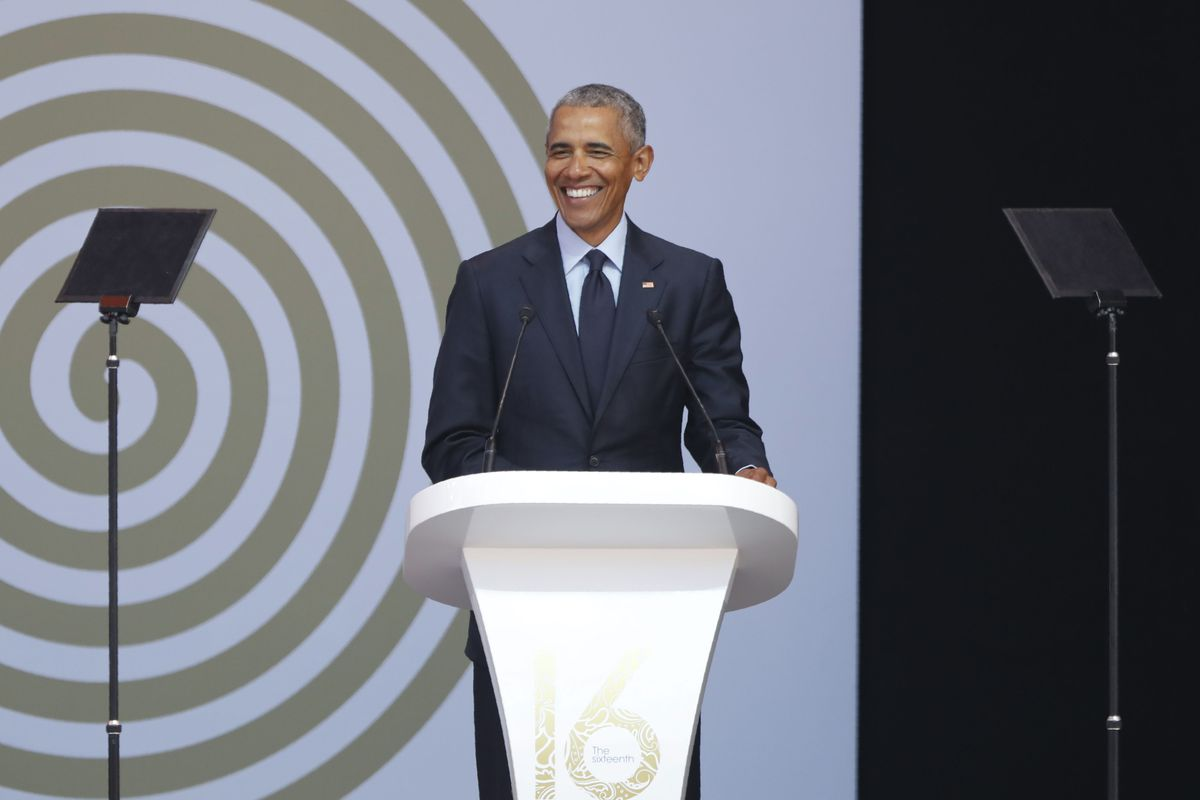 Former President Barack Obama delivers a strong warning against the decline of truth during his Nelson Mandela lecture.