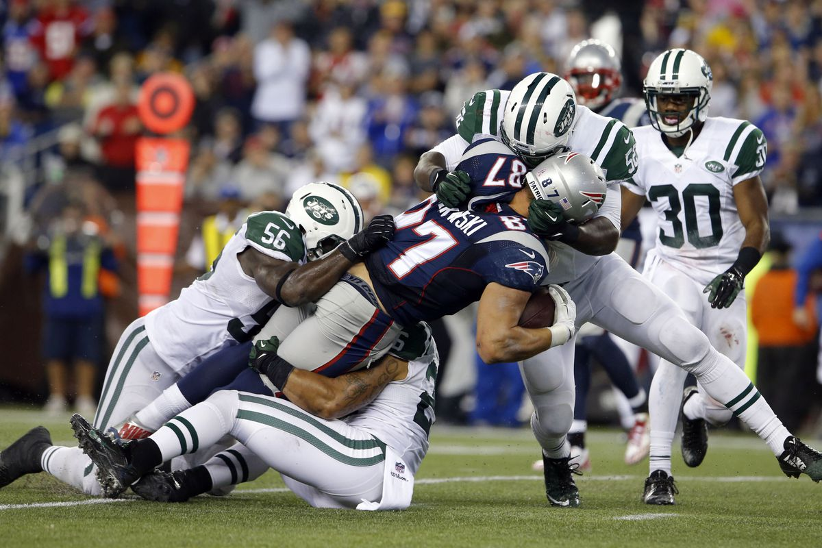 How many Jets does it take to take down a Gronk?