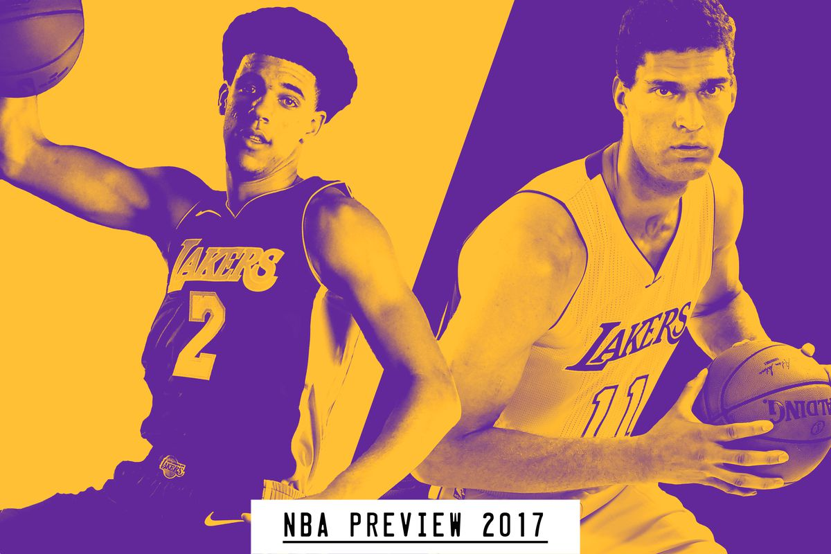 Lonzo Ball and Brook Lopez