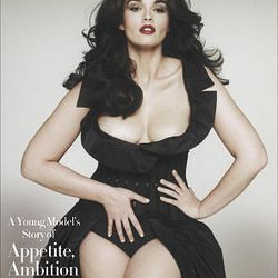 """This book cover released by Simon & Schuster shows the cover of """"Hungry: A Young Model's Story of Appetite,Ambition and the Ultimate Embrace of Curves"""", by Crystal Renn."""