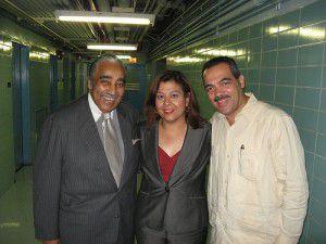 Hispanic Federation president Lillian Rodriguez Lopez, center.
