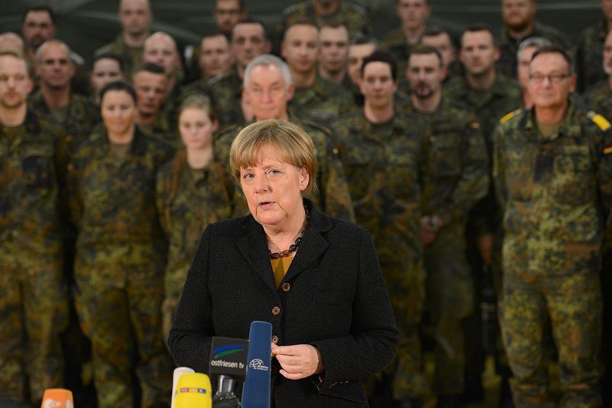 Angela Merkel has a posse.