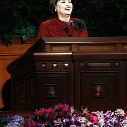 Sister Ann M. Dibb, Second Counselor of the Young Women General Presidency,  speaks during the morning session of the182nd Semiannual General Conference for The Church of Jesus Christ of Latter-day Saints in the Conference Center in Salt Lake City on Saturday, Oct. 6, 2012.