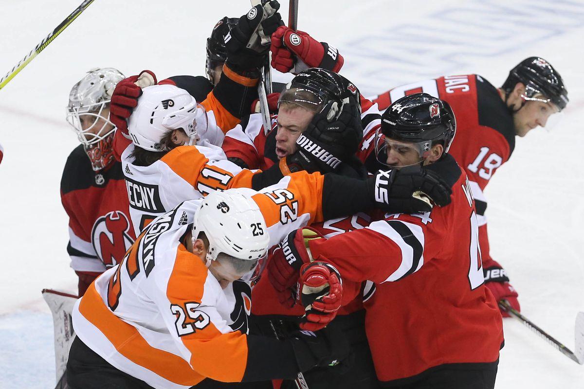 Philadelphia Flyers Vs New Jersey Devils